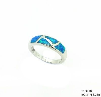 925 SILVER SIMULATED INLAID OPAL RING-11OP10-K5