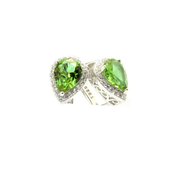 925 STERLING SILVER COLOR CHANGEABLE ZULTNITE HALO POST EARRINGS,22051-204