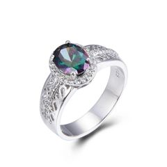 925 Sterling Silver,Mystic,Oval Ring,11ST27