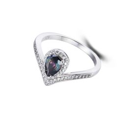 925 Sterling Silver,Mystic,Drop Ring,11328ST