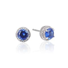 925 Sterling Silver,CTZ,Round Ear Ring,22281ST