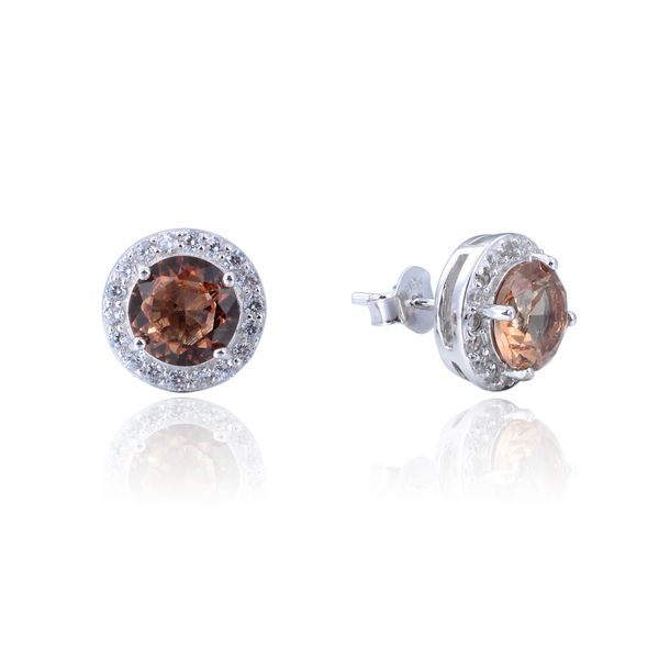 925 Sterling Silver,Sultnite#204,Color Change,Round Ear Ring,22281