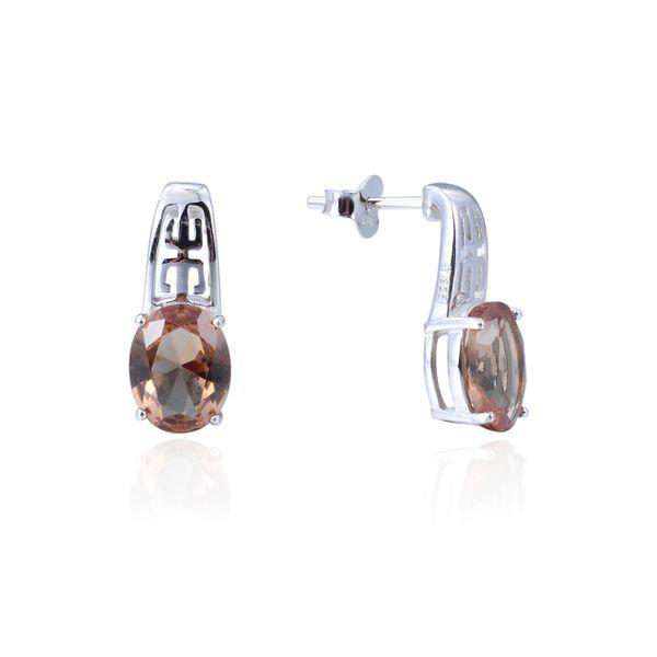 925 Sterling Silver,Sultnite#204,Color Change,Oval Ear Ring,22283