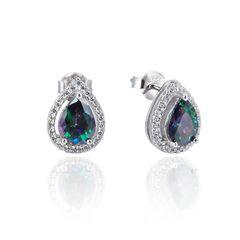 925 Sterling Silver,Mystic,Drop Ear Ring,22283