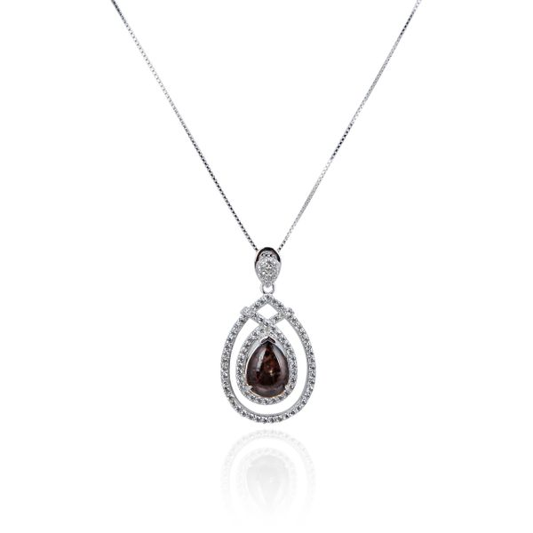 925 Sterling Silver,Ammolite,Drop Pendant,33OP98