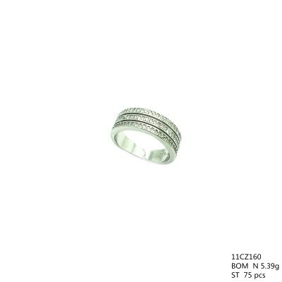 925 SILVER WHITE CZ WIDE WEDDING BAND RING, 11CZ160-WH