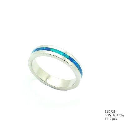 925 STERLING SILVER 4MM LAB OPAL ETERNITY BAND RING ,MEN AND LADIES,11OP21-K5