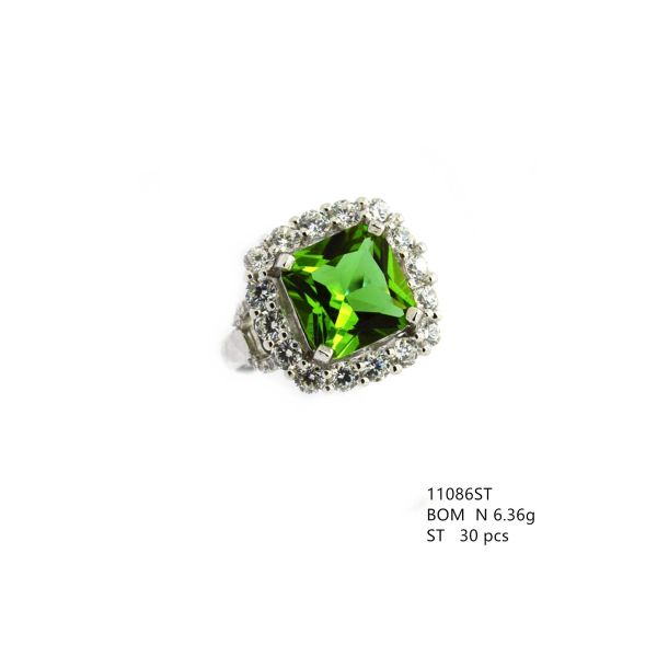 925 SILVER COLOR CHANGING SULTNITE STONE RING - 11086-204