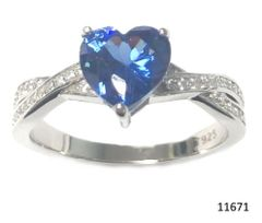 925 SILVER COLOR CHANGING TANZNITE PARAIBA STONE RING, HEART INFINITY SHAPE -11671-2