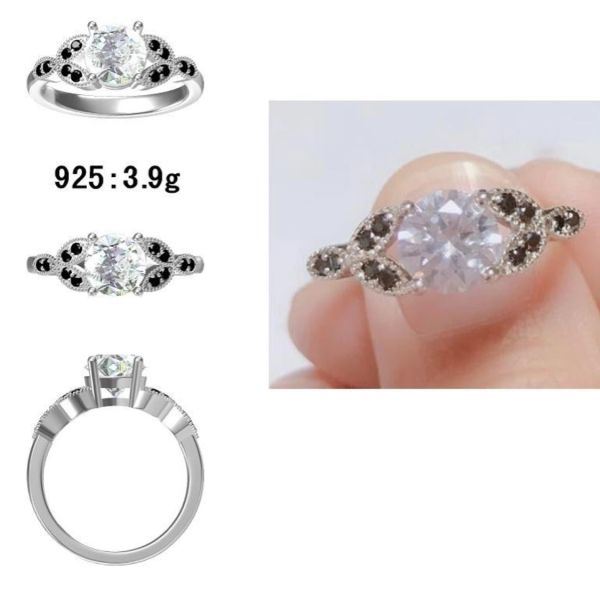 925 SILVER MICRO SETTING CZ RING- 11715-WCZ