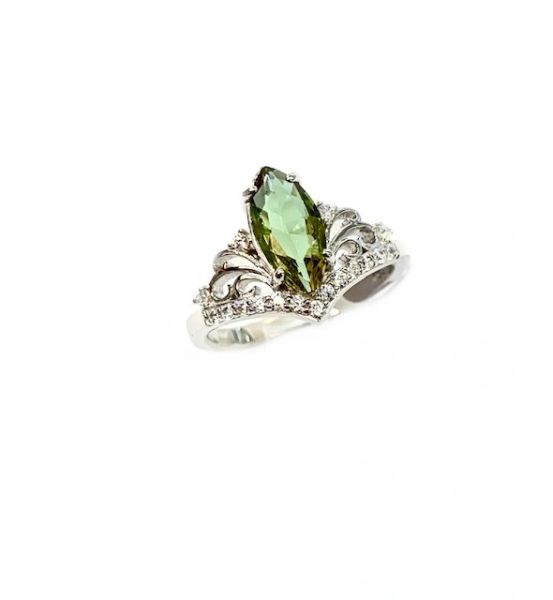 925 SILVER COLOR CHANGING SULTNITE STONE CROWN RING-11613-204