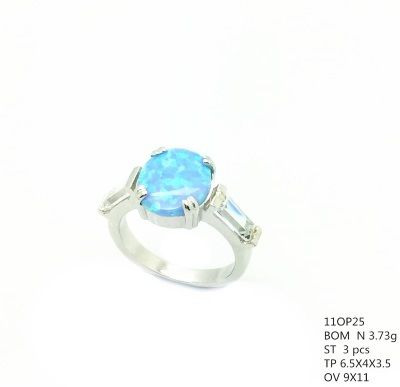 925 SILVER SIMULATED OPAL WEDDING RING MARQUISE STYLE RING-11OP25-K5