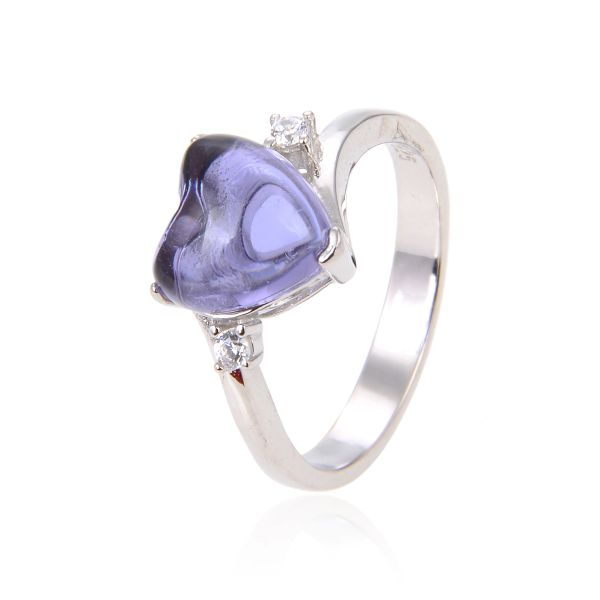 925 SILVER COLOR CHANGING STONE AMETHYST, TANZNITE RING-11OP29-2