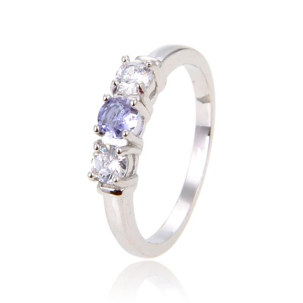 925 SILVER COLOR CHANGING STONE AMETHYST, TANZNITE-PARAIBA,RING-11OP135-2