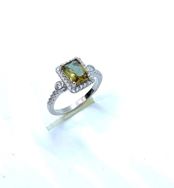 925 SILVER COLOR CHANGING ZULTNITE CZ STONE SOLITAIRE RING -11129-ZL
