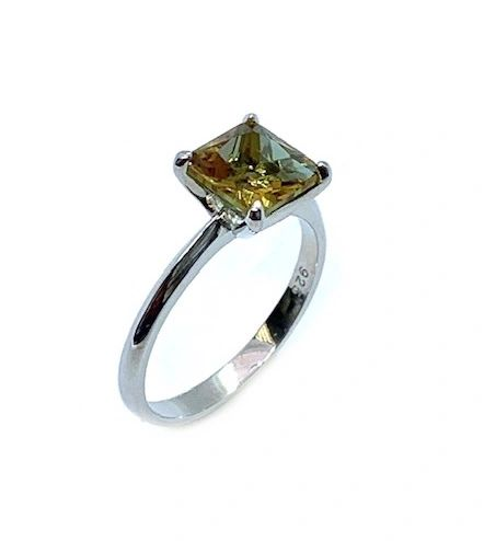 925 SILVER COLOR CHANGING ZULTNITE CZ STONE SOLITAIRE RING -11103-ZL