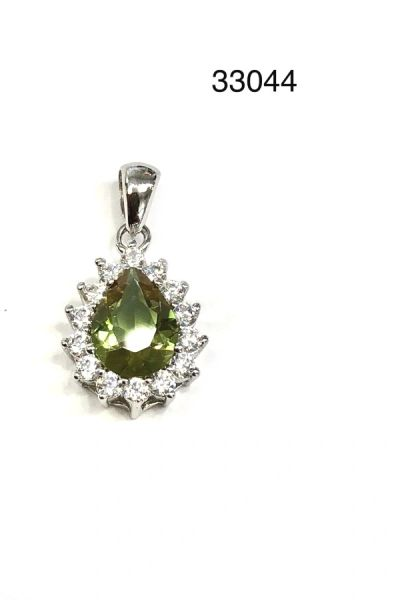 925 Sterling Silver Color Changing SULTNITE Stone PEAR SHAPE PRINCESS Pendant-33044-204