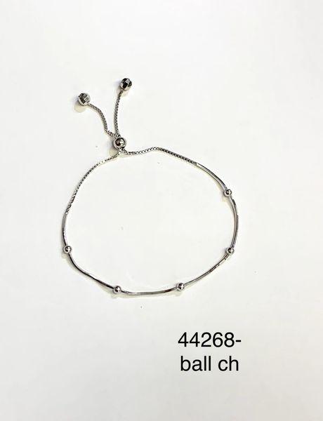 925 Sterling Silver Adjustable 3mm Ball Bracelets - 44268-ball 3mm