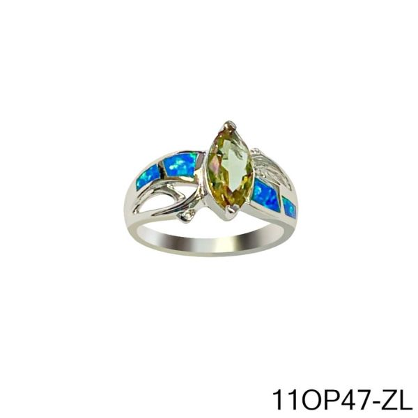 925 Sterling Silver Simulated Inlaid opal ring with Marquise Sultnite color change stone-11op47-k5-204-ZULTNITE