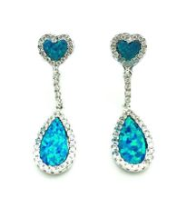 22OP22 STERLING SILVER OPAL FANCY EARRINGS