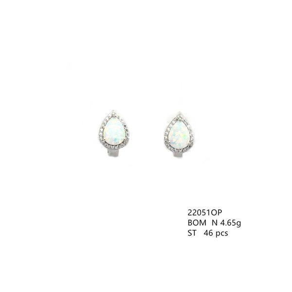 OPAL EARRINGS 22051 STERLING SILVER