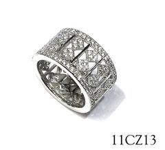 11CZ13 925 Micro setting eternity wide ring