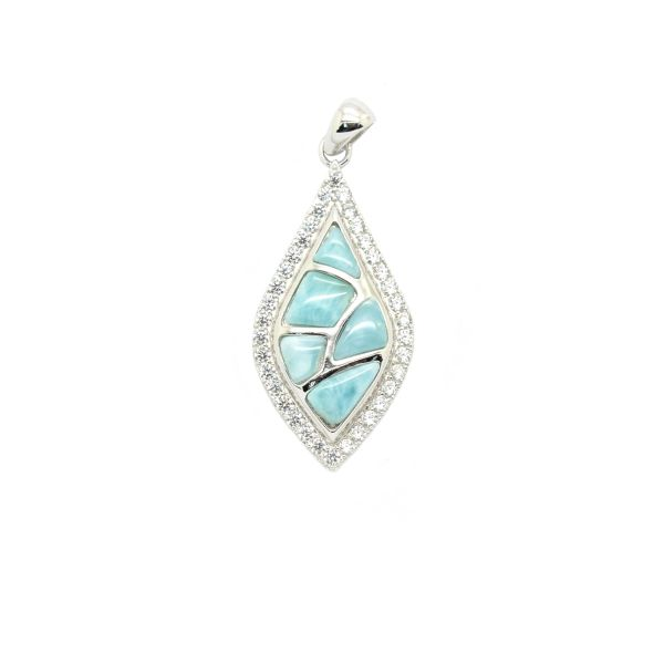33238 LARIMAR PENDANT, INLAID SETTING ,