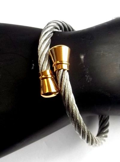 SSB400 STAINLESS STEEL CABLE BALL HEAD BANGLE