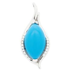 33OP87 NATURAL TURQUISE SILVER PENDANT