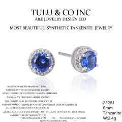 22281 TANZNITE STUD EARRINGS JEWELRY BY TULU & CO