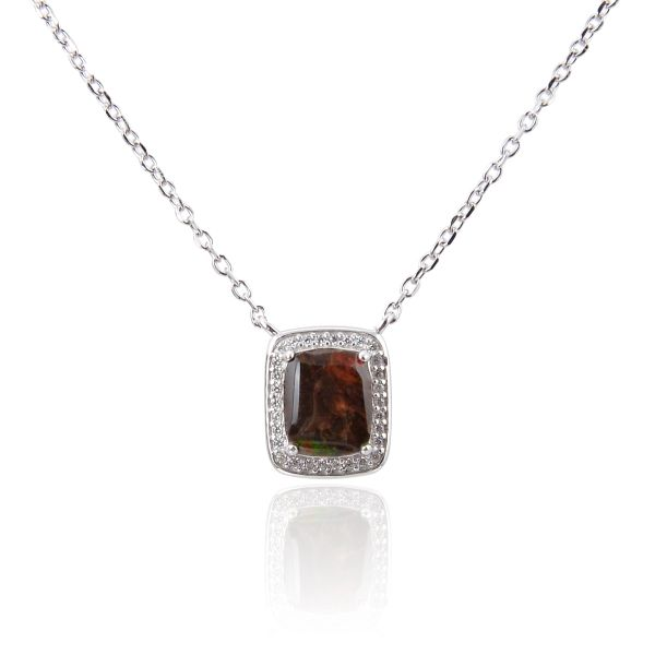 AMMOLITE Necklaces 925 SILVR 55op13AMO