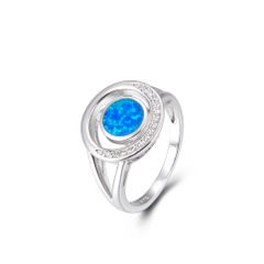 Opal Ring sterling Silver 11357