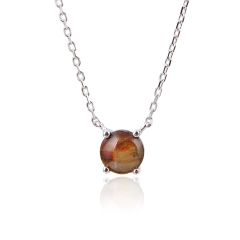 CANADIAN AMMOLITE SILVER NECKLACE 55021