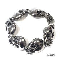 Stainless Steel Skuli Head Bracelet , SSB1182