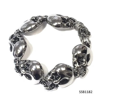 Stainless Steel Skuli Head Bracelet , SSB1182