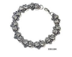 Stainless Steel Skull Head Bracelet,SSB1184