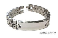 STAINLESS STEEL BAR STYLE WIDE 16MM ID BRACELET,SSB1180