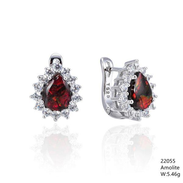 Ammollite , Silver Earrings ,22055