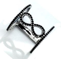 11CZ46 INFINITY CUTOUT MICRO PAVE RING