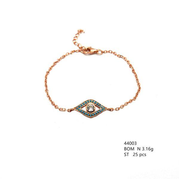 925 Silver Nano Turquoise , eye Bracelet , 44003