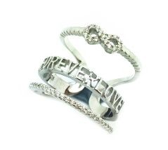 925 SILVER SPACER & KNUCKEL RING,INFINITY, LOVE ,BAND , 11CZ24