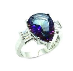 925 SILVER MYSTIC QUARTZ MARQUISE RINGS ,11ST01-MY BLUE
