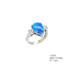 925 SILVER BLUE LAB OPAL MARQUISE RINGS ,11ST01-K5