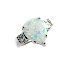 925 SILVER BLUE LAB OPAL MARQUISE RINGS ,11ST01-K17