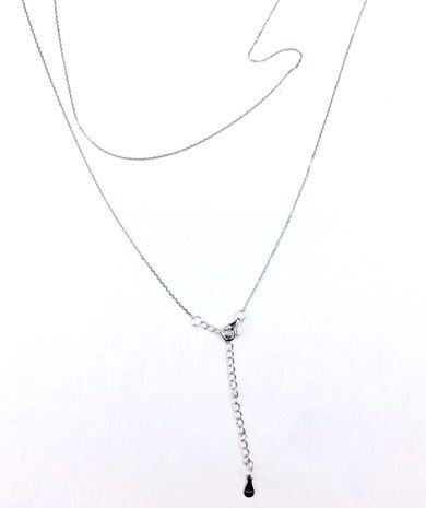 "925 SILVER ROLO CHAINS with extension 0.8MM -20"",55SL02-20"