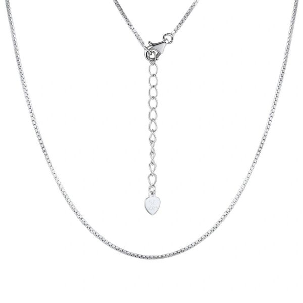 "925 SILVER ADJUSTABLE BOX CHAIN 1.2 MM, 16"" INCH LONG -55136-16"