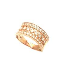 925 STERLING SILVER MICRO SETTING CZ RING, 11CZ42