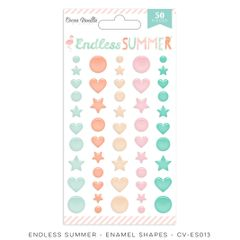 Cocoa Vanilla Endless Summer Enamel Shapes