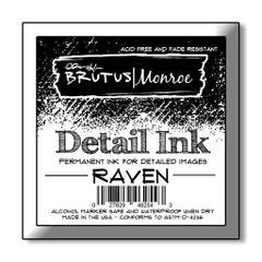 Brutus Monroe Detail Ink - Raven - 2x2