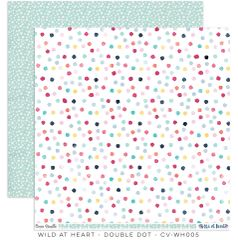 Cocoa Vanilla Studio Wild at Heart 12 x 12 Card Stock Double Dot